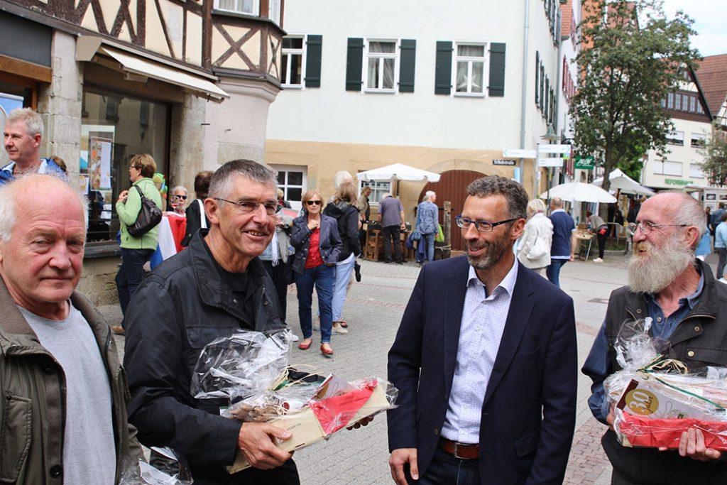 Strassengalerie Herrenberg Jury und OB Sprissler