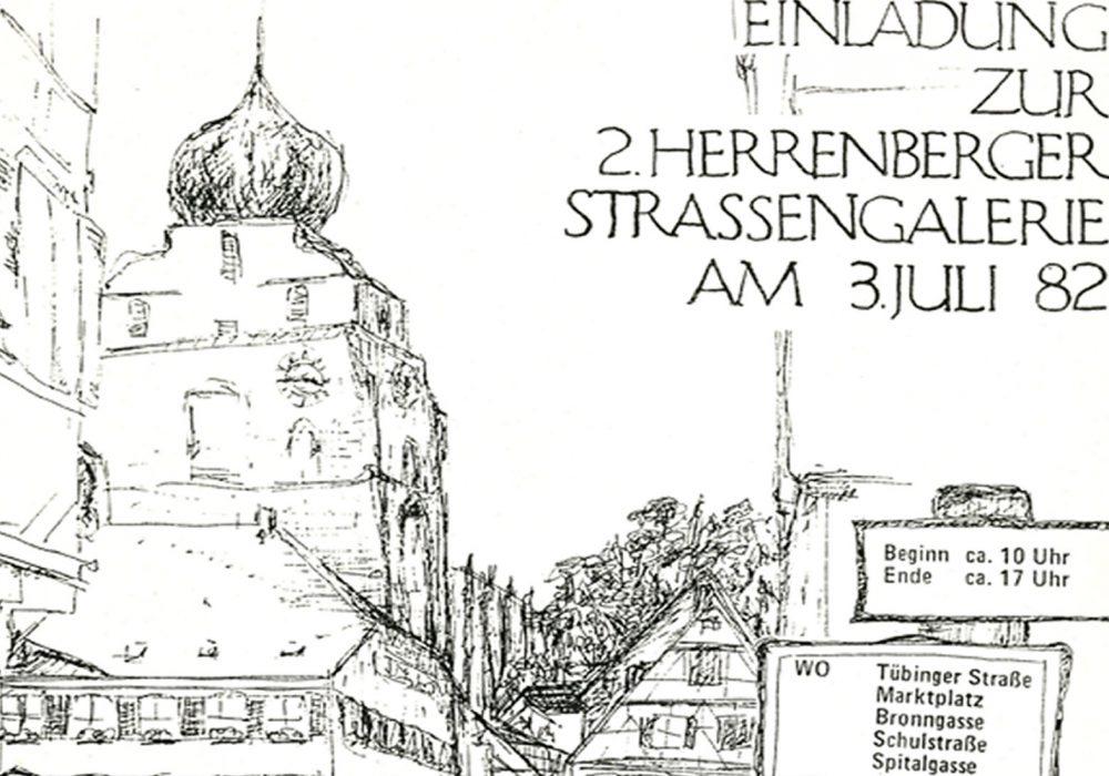 Original Einladung von 1982